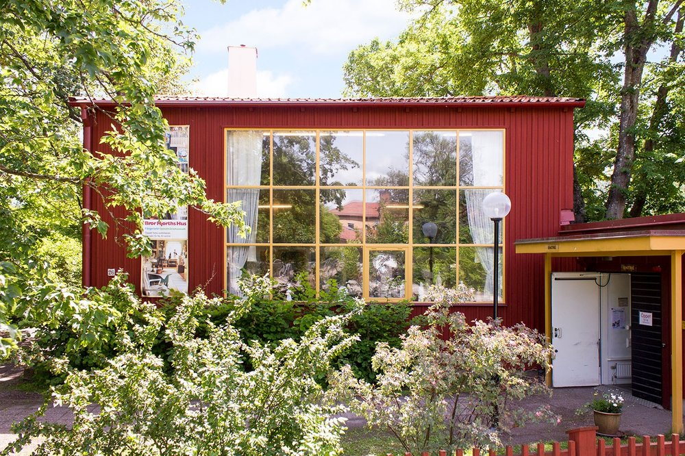 Photo: Bror Hjorth's house on the outskirts of Stockholm of Uppsala.