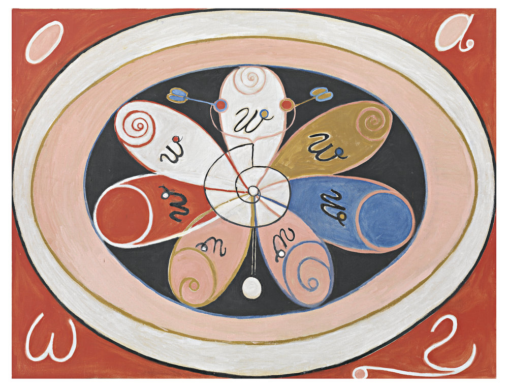 Hilma af Klint   Group VI, no 15. Evolution Series WUS, Seven Pointed Star  225 x 160 cm Edition of 30 50% New Zeeland wool, 50% viscose Hand tufted