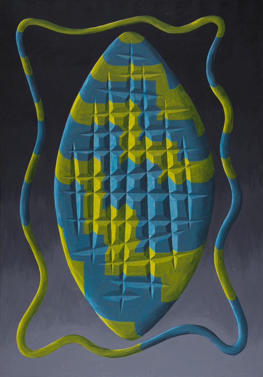 Peter Schuyff   Kali II  1984 Acrylic on canvas 168 x 117 cm