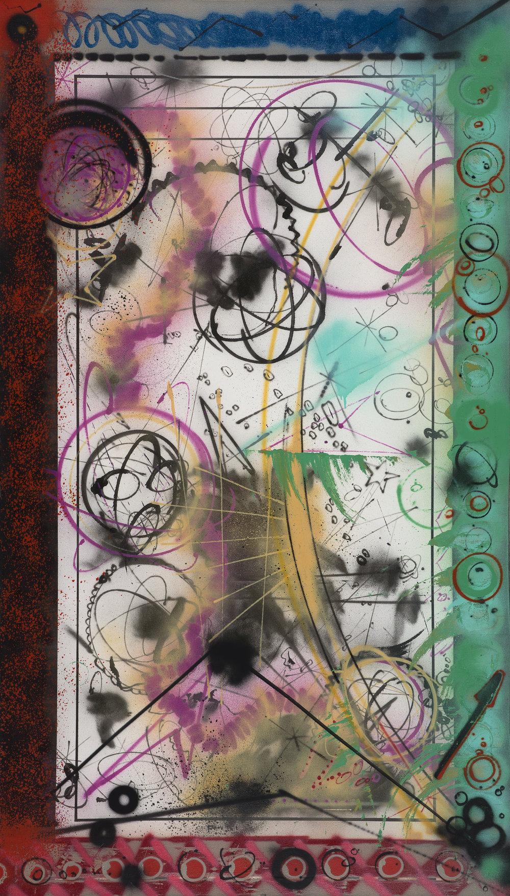 Futura 2000   Foreign body in my eye  1984 Spray paint on canvas 244 x 137,5 cm