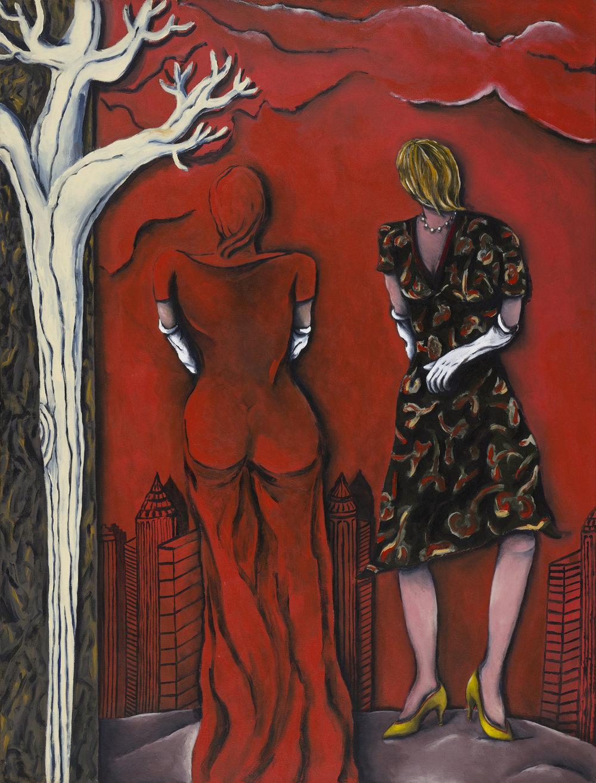 Michael Mogavero  A Separate Deity 1980 Acrylic on canvas 196,5 x 152,5 cm