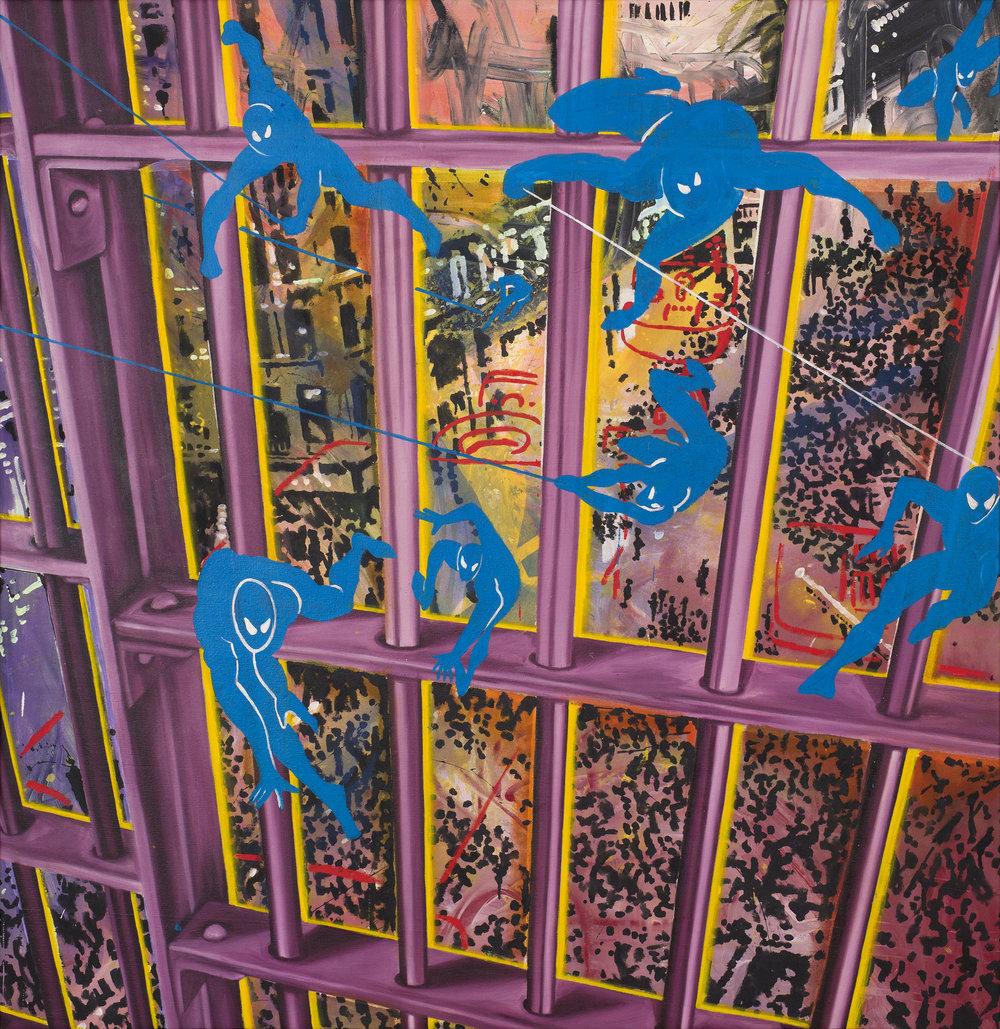 Christof Kohlhofer & Marilyn Minter   Striking  1984 Mixed media on canvas 171 x 166 cm