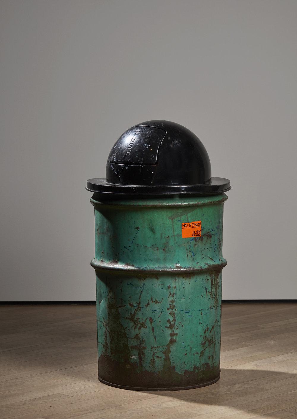 Klara Lidén   Trash Can , 2012 Mixed media Height 81 cm