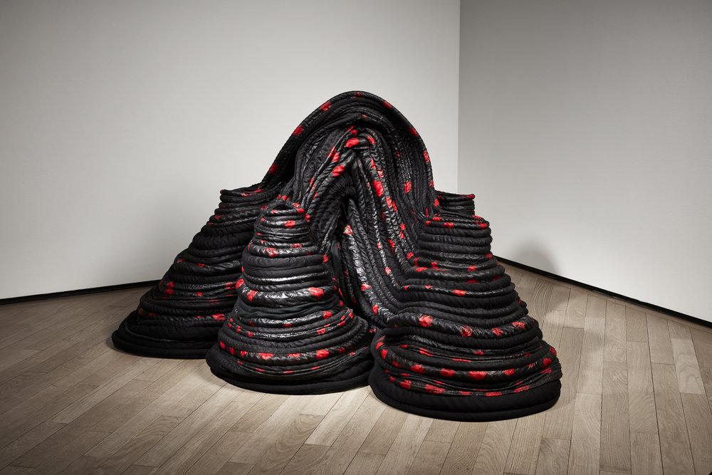 Katrine Helmersson   Pochoir , 2014 Bazin (Rubberised fabric) 79 x 140 x 140 cm