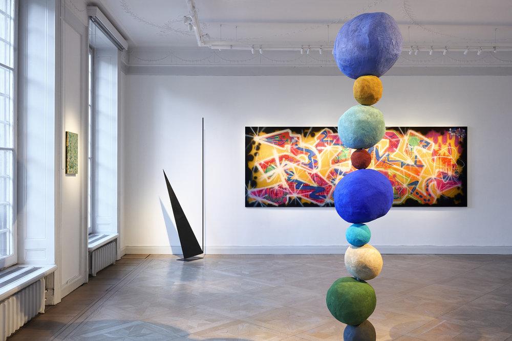 Olle Baertling  'KERAK'  and Annie Morris ' Stack 9, Studio Violet'.
