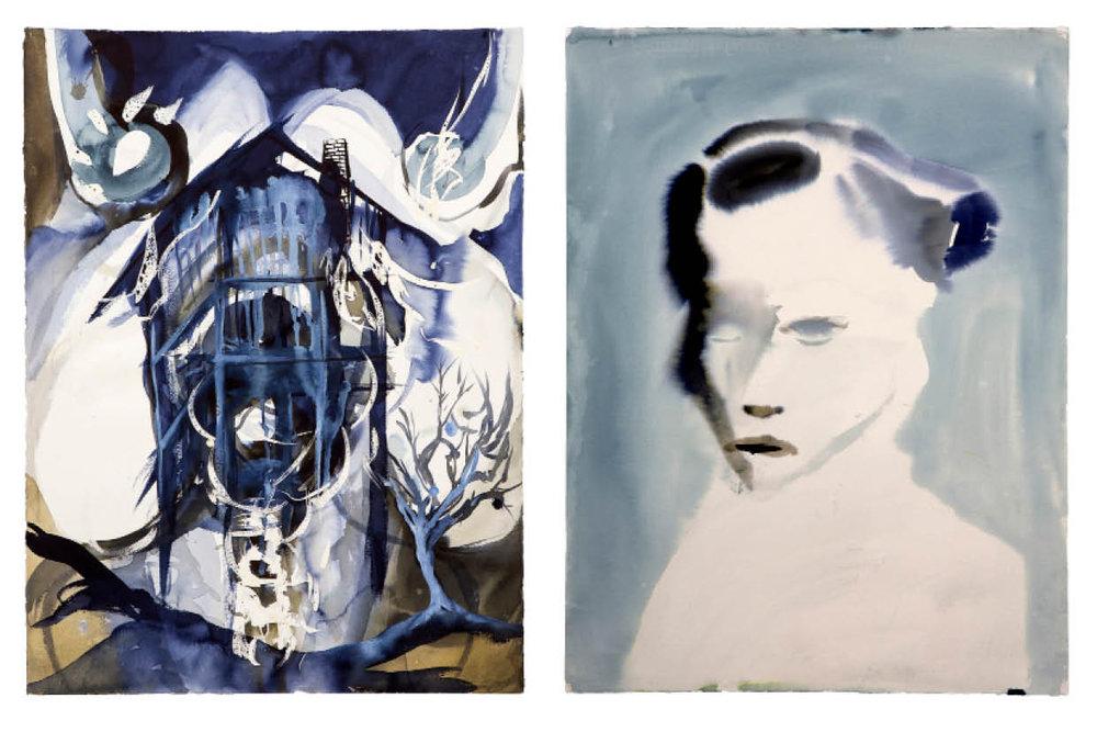 Ulf Rollof  BLUE 1  2009-2019 92 x 129 x 5 cm Indian ink. Acrylic. Cotton Paper.