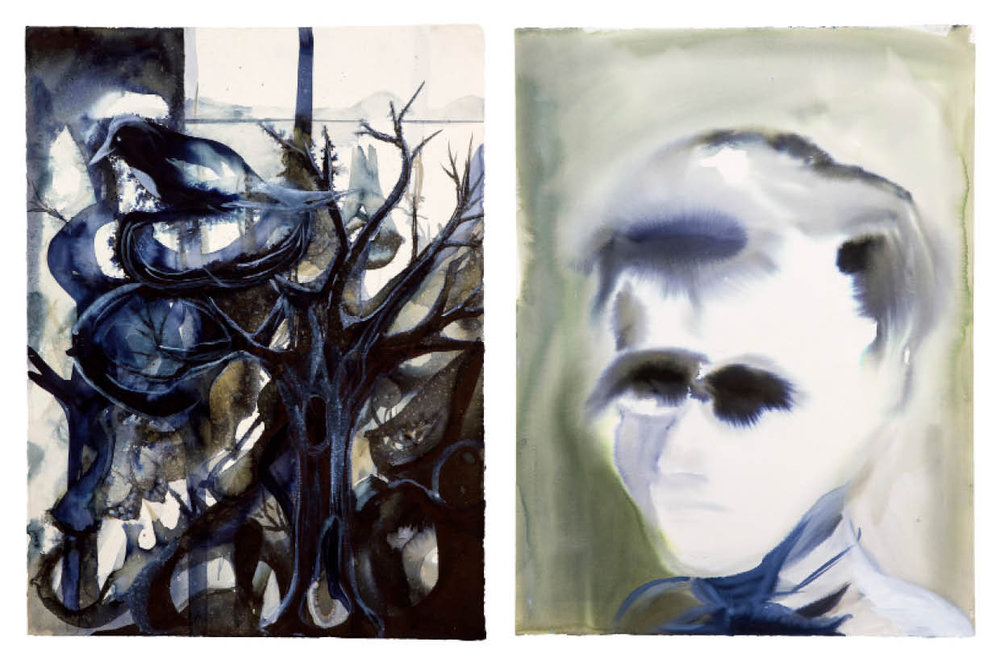 Ulf Rollof   BLUE 2  2009-2019 92 x 129 x 5 cm Indian ink. Acrylic. Cotton Paper.