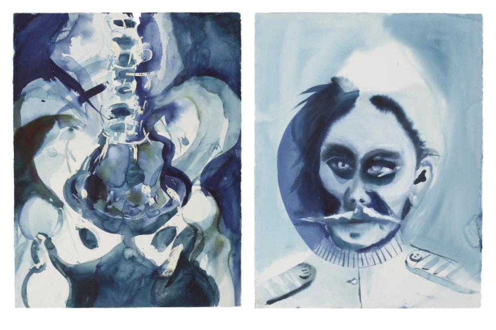 Ulf Rollof   BLUE 6  2009-2019 92 x 129 x 5 cm Indian ink. Acrylic. Cotton Paper.
