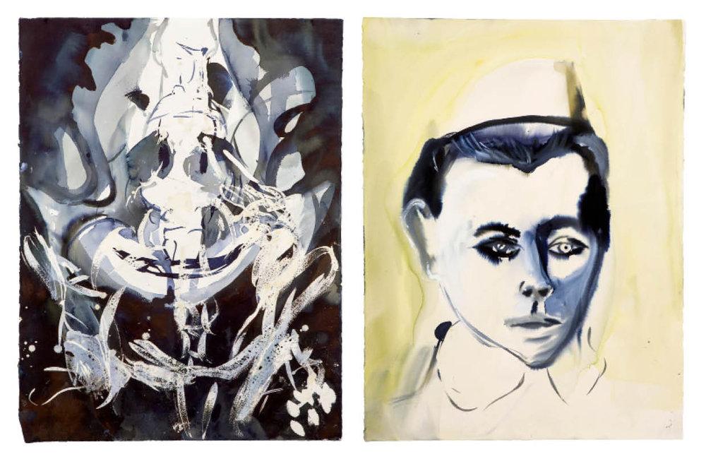 Ulf Rollof   BLUE 7  2009-2019 92 x 129 x 5 cm Indian ink. Acrylic. Cotton Paper.