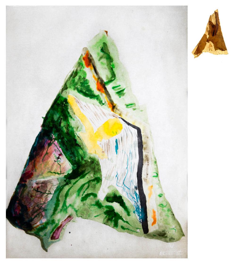 Ulf Rollof   Barkteckning 6  2019 61 x 50 x 10 cm Mixed media. Cotton Paper. Acrylic. Electrical.