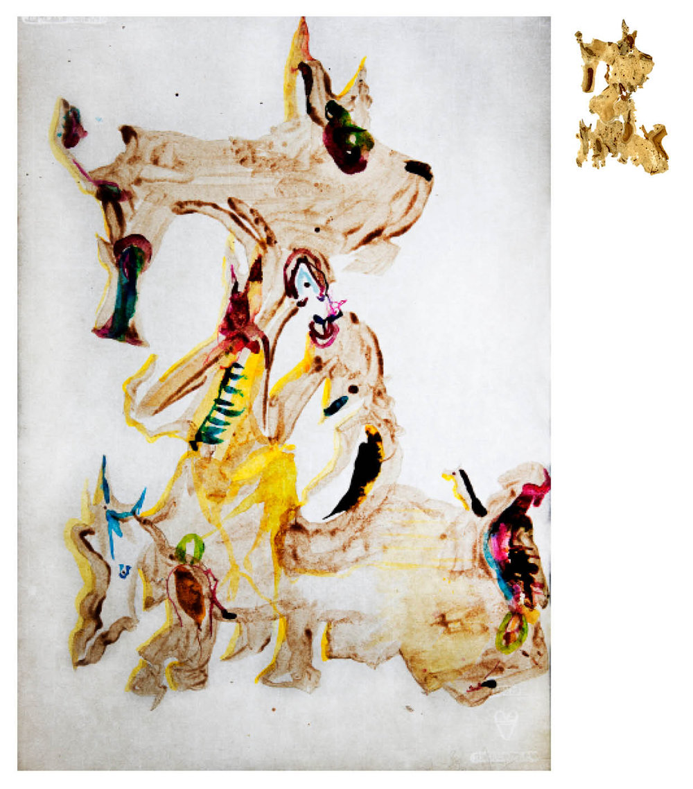 Ulf Rollof   Barkteckning 7  2019 61 x 50 x 10 cm Mixed media. Cotton Paper. Acrylic. Electrical.