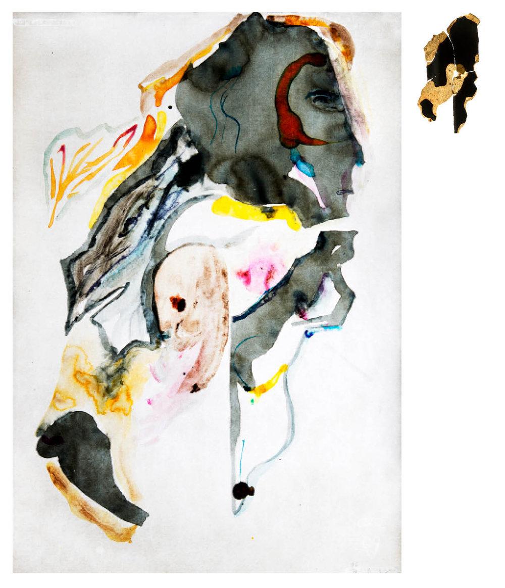 Ulf Rollof   Barkteckning 8  2019 61 x 50 x 10 cm Mixed media. Cotton Paper. Acrylic. Electrical.