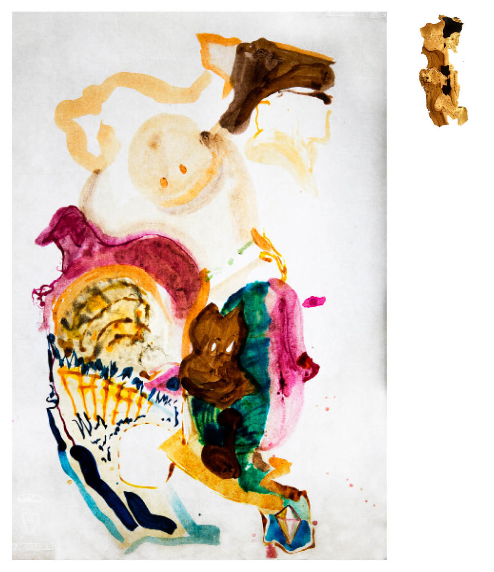 Ulf Rollof   Barkteckning 3  2019 61 x 50 x 10 cm Mixed media. Cotton Paper. Acrylic. Electrical.