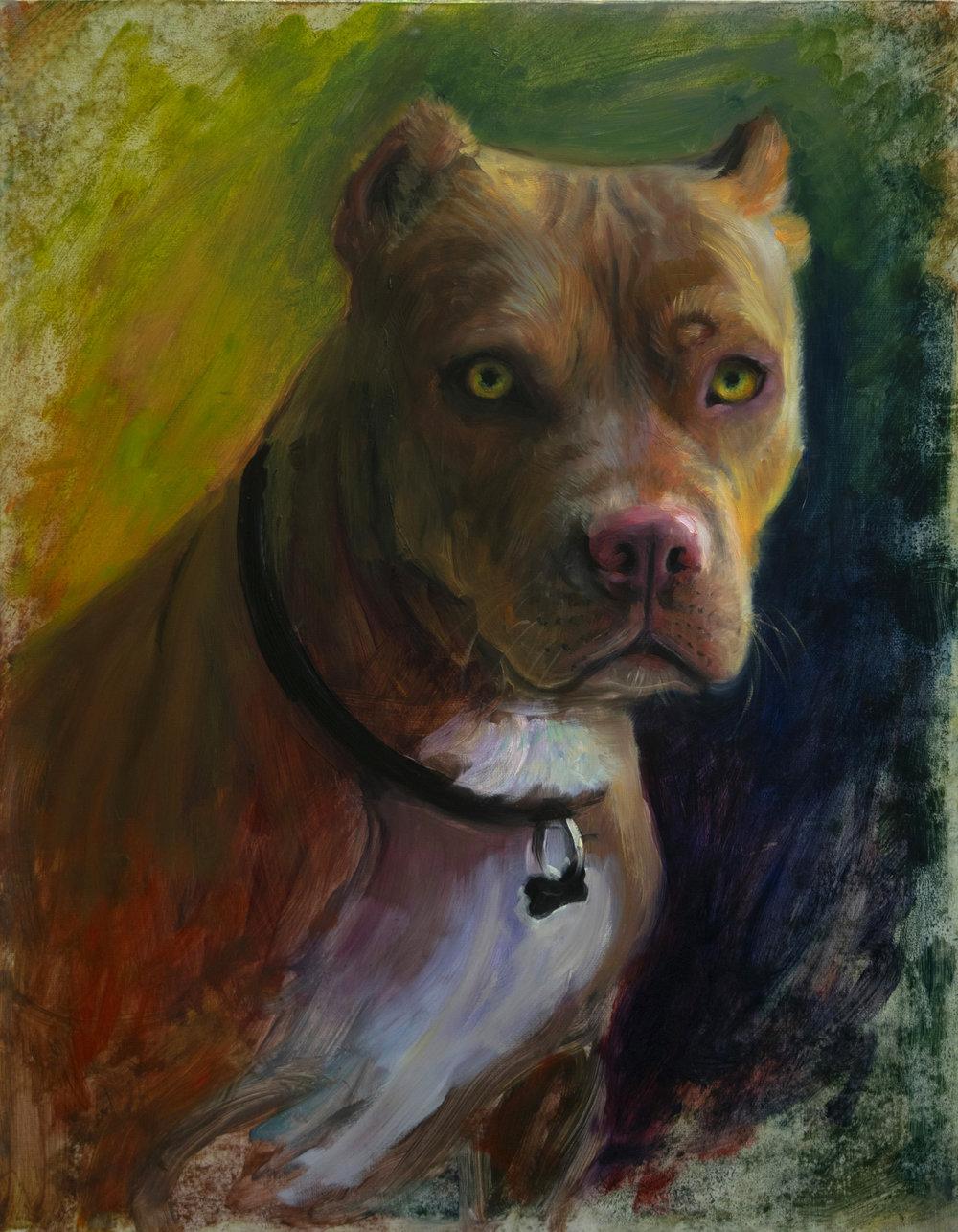 TM Davy   Sister  2018 Oil on canvas 46 x 35.5 cm