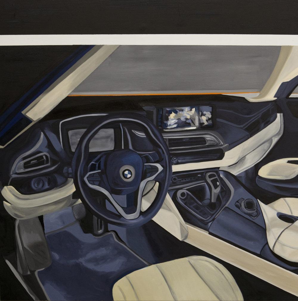 Frieda Toranzo Jaeger   Auto Control  2015 Oil on canvas 190 x 190 cm