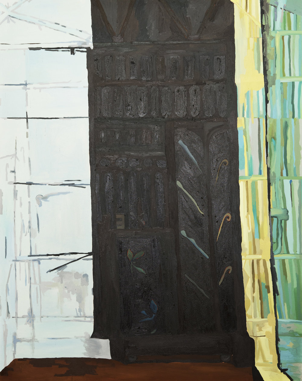 Alex Chaves   Black Door  2019 Oil on canvas 152.4 x 121.9 cm  Available