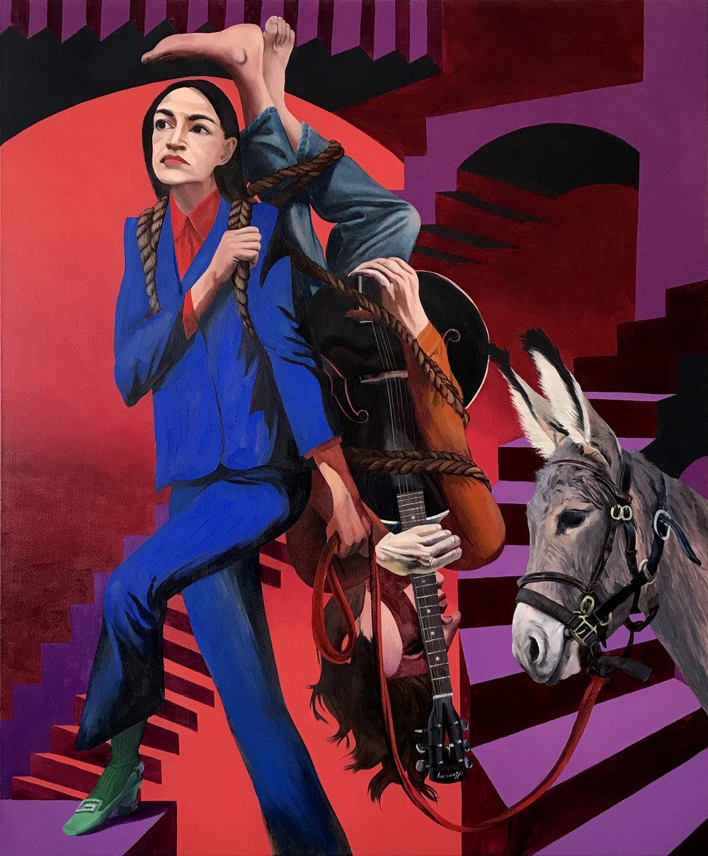 Justin John Greene   Deposition  2019 Oil on canvas 127 x 107 cm  Available
