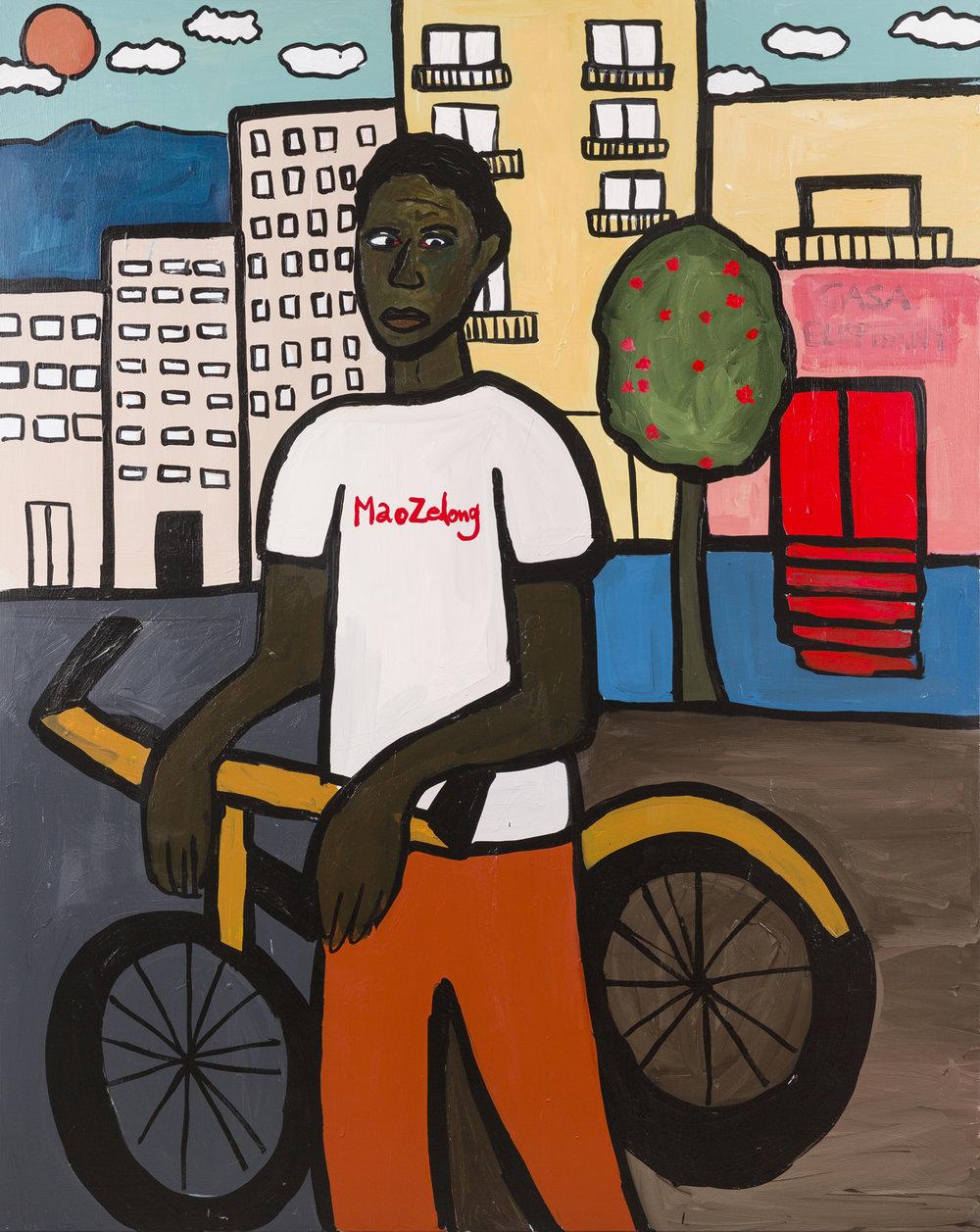 Cassi Namoda   Avenida Mao Zedong  2019 Acrylic on canvas 152.4 x 121.9 cm  Available