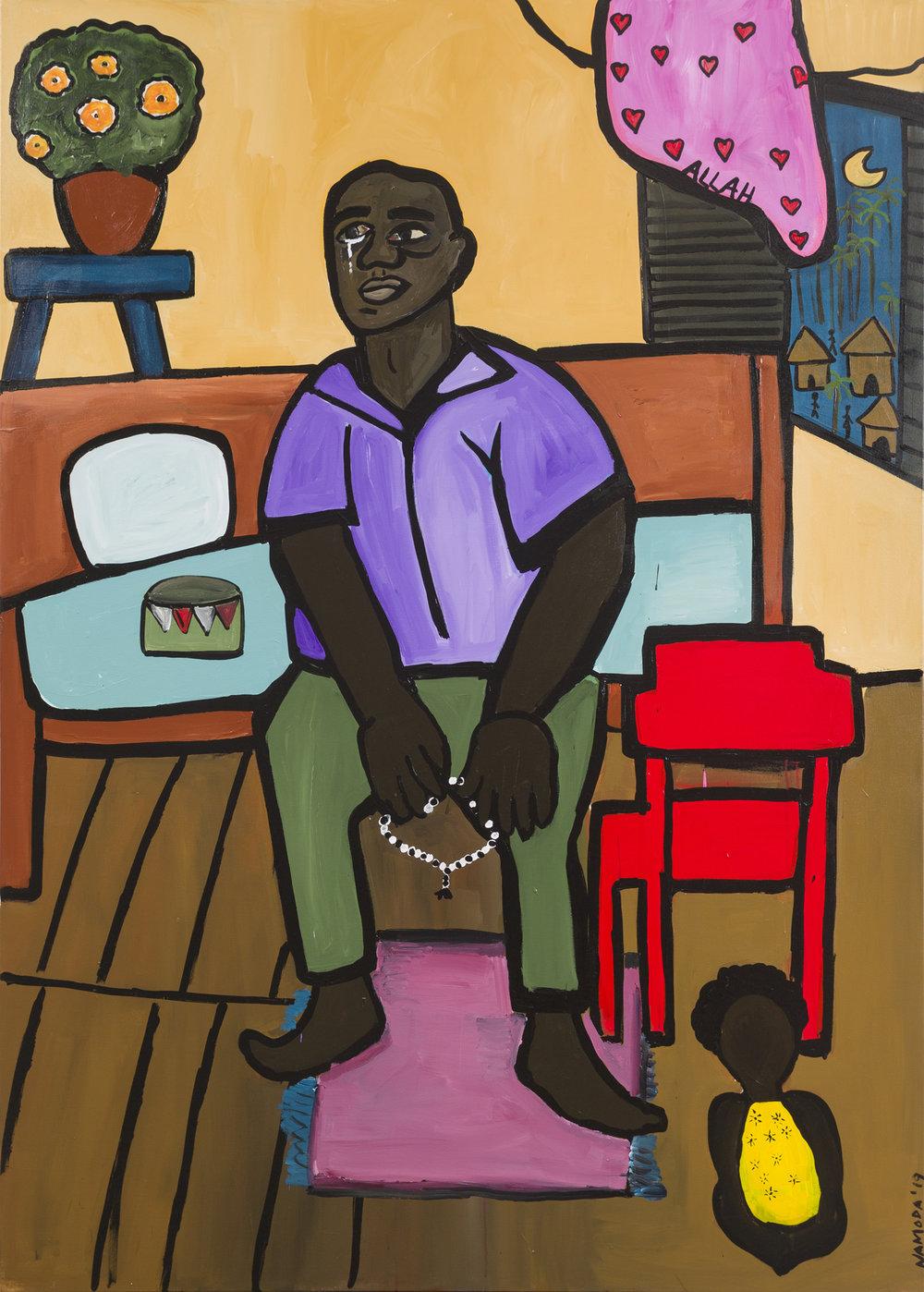 Cassi Namoda   Quarto de Eduardo  2019 Acrylic on canvas 213.4 x 152.4 cm  Available