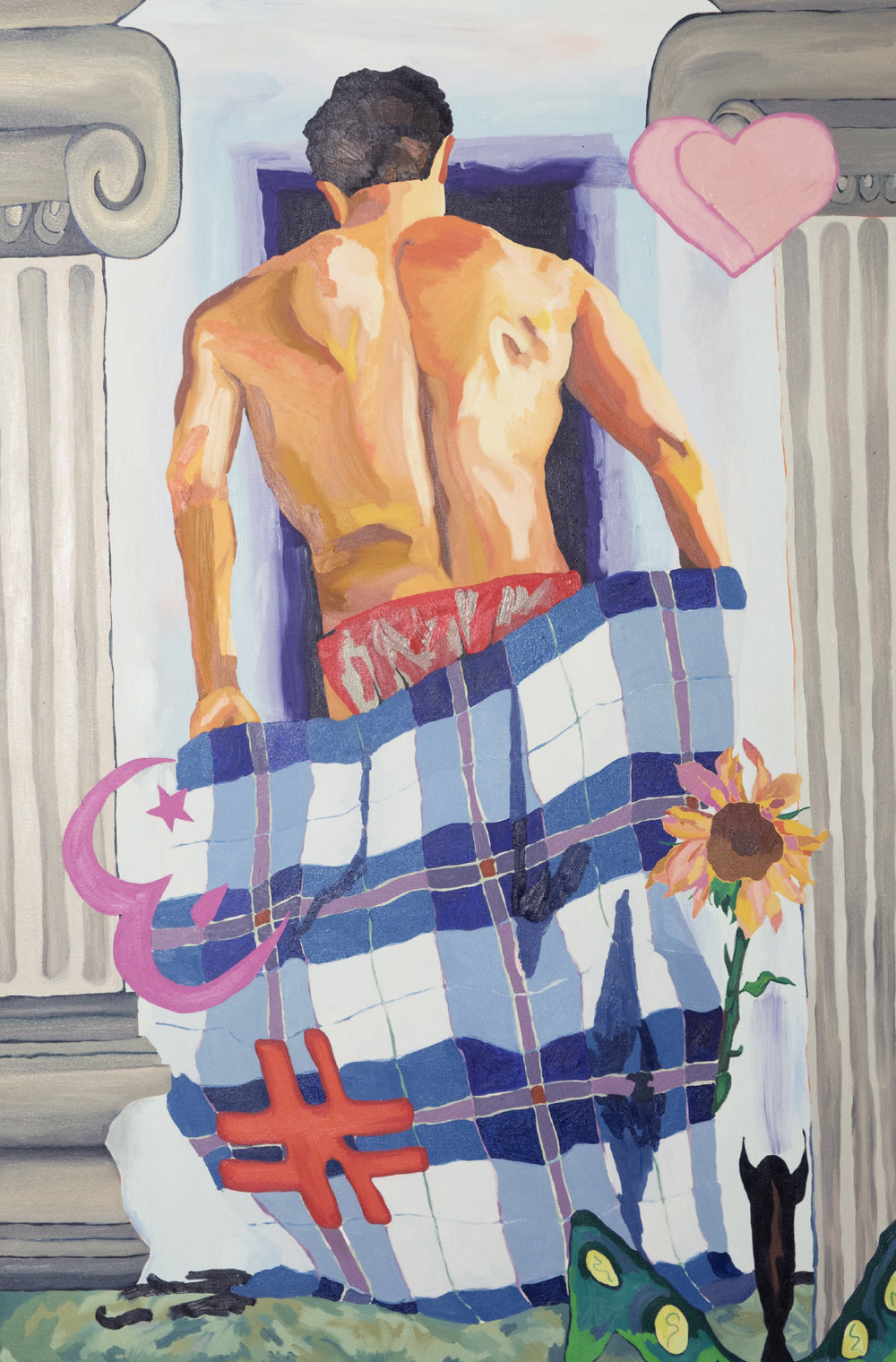 Alex Chaves   Standing Figure  2019 Oil on canvas 182.9 x 121.9 cm  Available