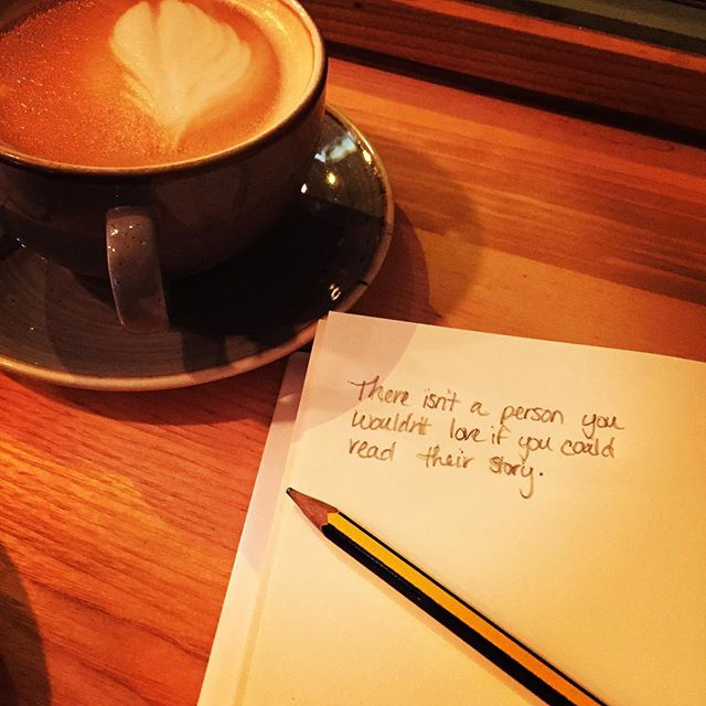 Taking my afternoon coffee break with my head in the clouds today. #storytelling #stories #storiesmatter #belfast #northernireland #ancestry #genealogy #coffee #quoteoftheday