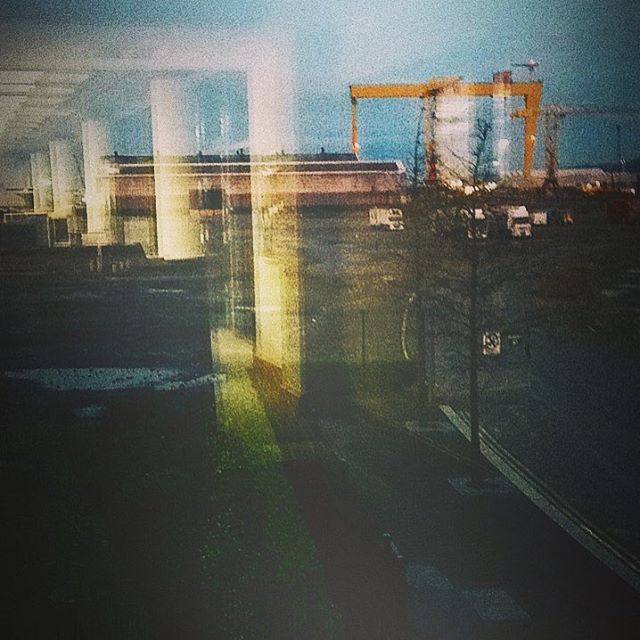 The view from the search room at PRONI. #belfast #northernireland #sampsonandgoliath #archives #titanicquarter
