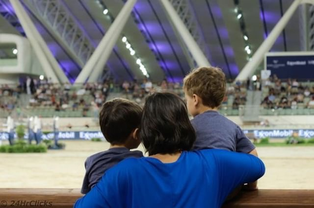 Matthew and Michael joined me in the last Longines World Champion Tour at Shaqab last month.