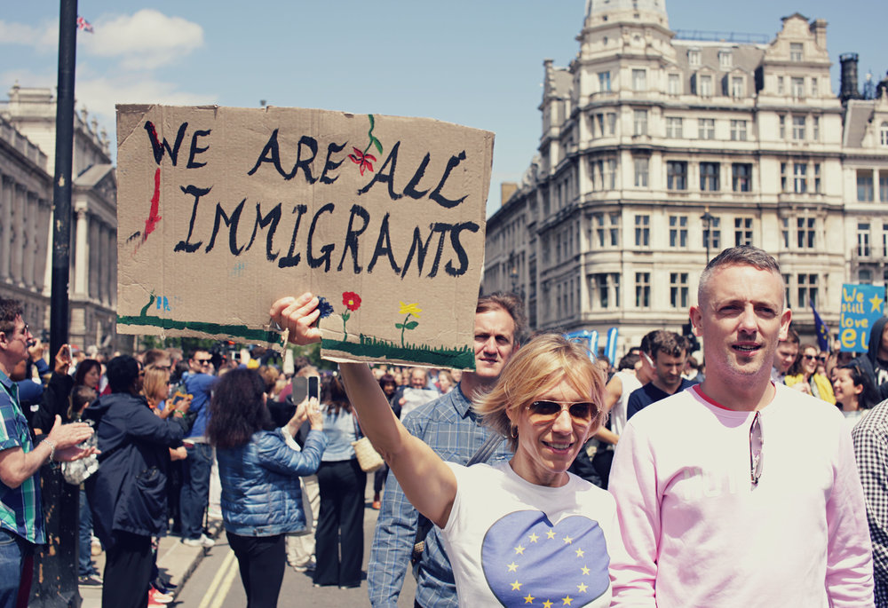 'WE ARE ALL IMMIGRANTS' - an appeal for humanity.