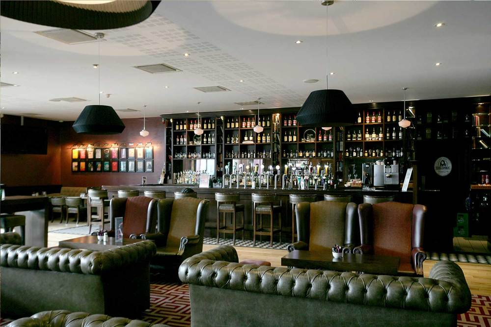 Bewley's Hotel Bar design - interior seating area, lobby style