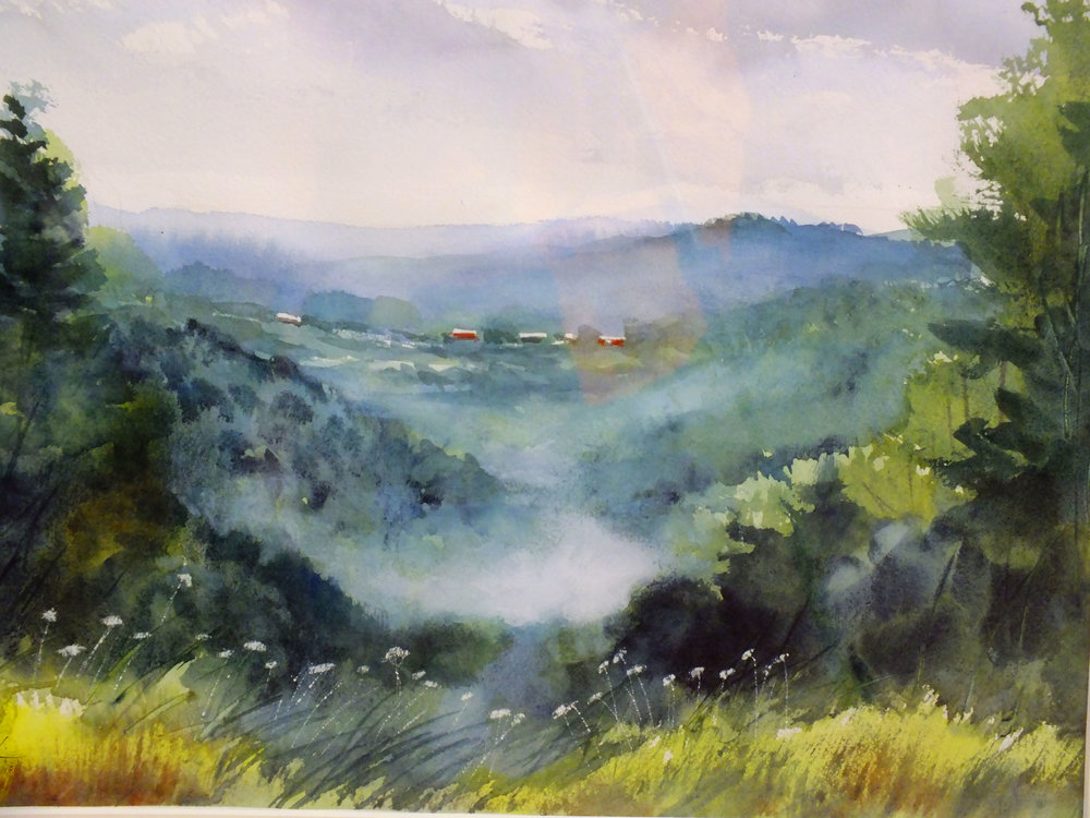 Valley Mist   Plein Air First Place   Framed  13 x 19$350.00