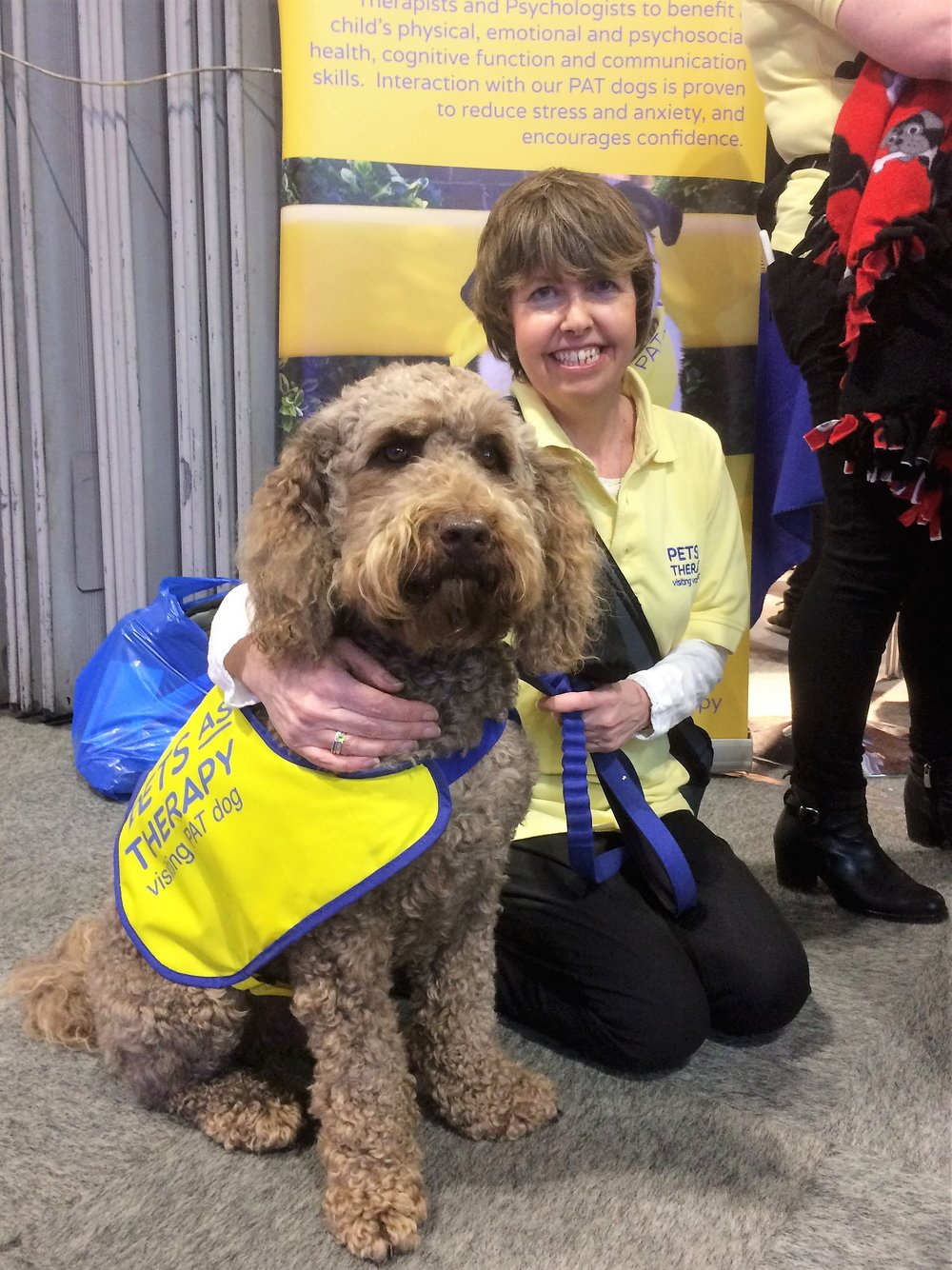 Teddy and his owner Sandra at Crufts