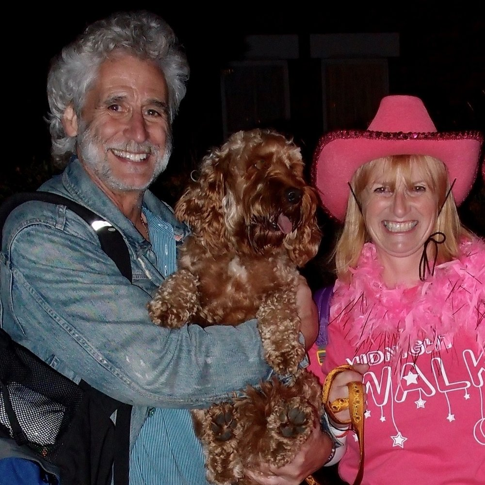 Paul, Charlie and Rosemary at Dove House Midnight Walk