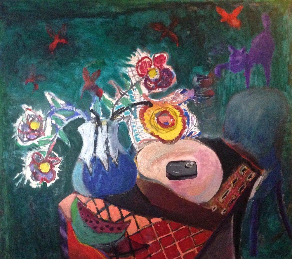 """""""la mesa"""" 45""""x40"""" oil on canvas, 2016"""