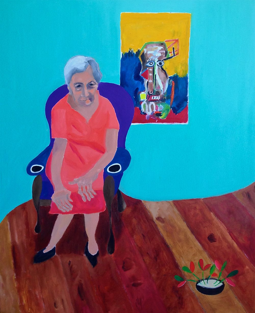 """grandma"" 56""x46"" oil on canvas, 2016  UNAVAILABLE"
