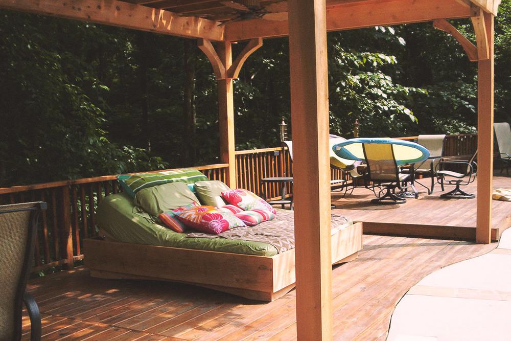custom cedar bed