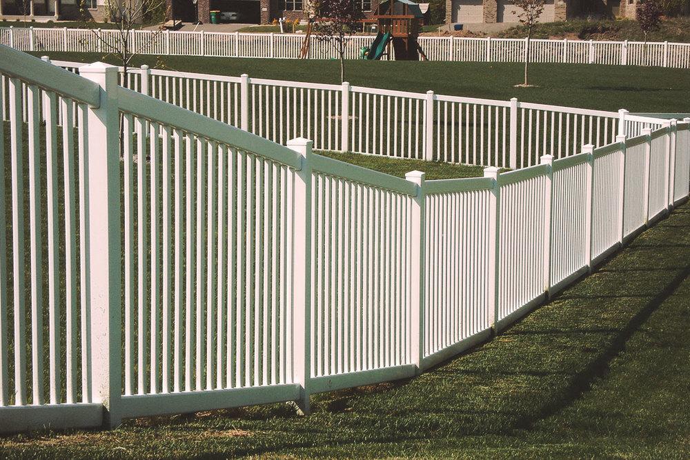 2-rail picket, flat top