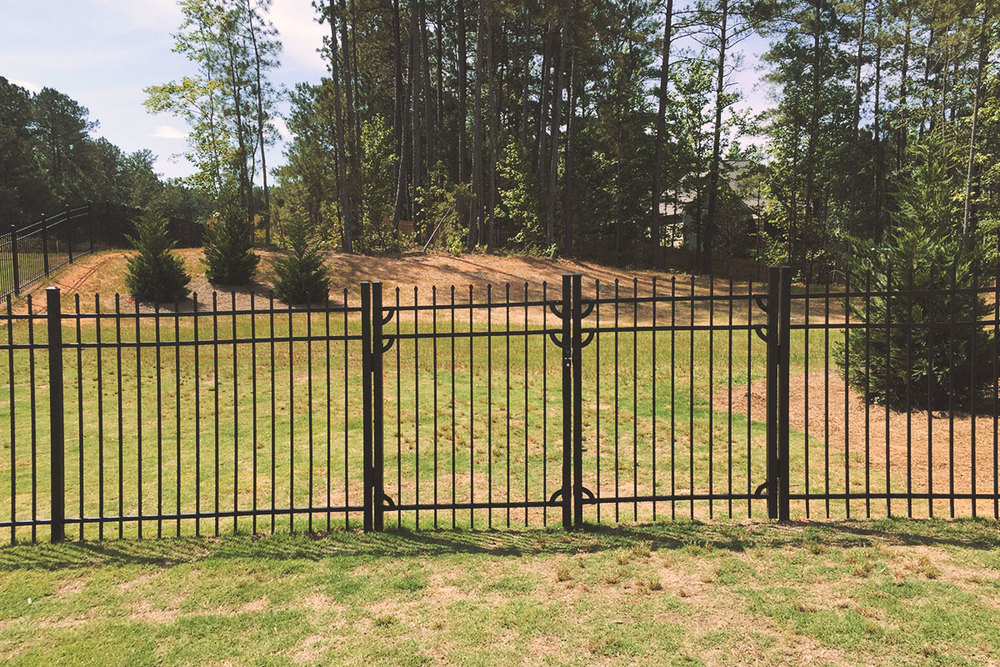 double walk gate, steel