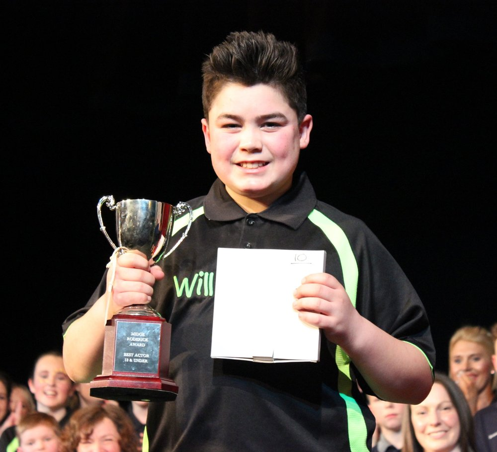 William Lewis - Cantal YFC - Midge Roderick Award - Best Actor 13 & Under