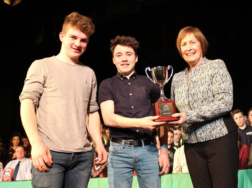Aeron Powell & Rhys Morris - Aberedw YFC - The Alice Ellard Award - Best Duo