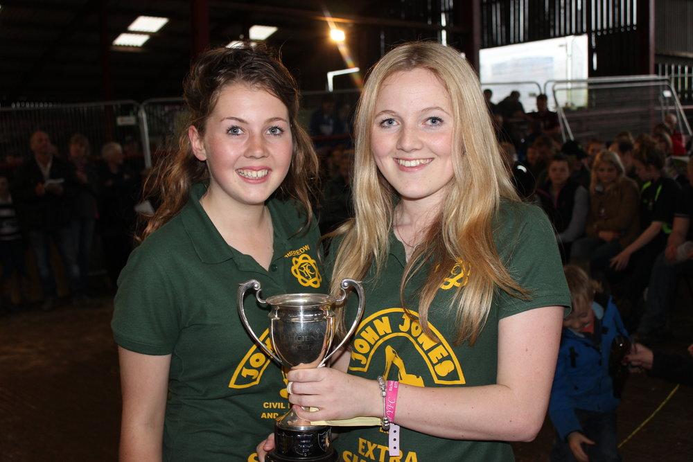 Cheryl Morris & Lowri Morris, Aberedw YFC - Efficiency Cup (Best Kept Minute & Attendance)