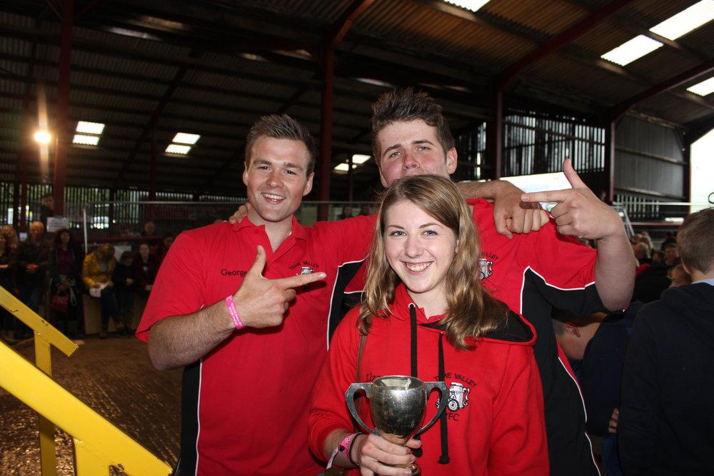 Elizabeth Swancott, George Morgan & Jon Harris, Teme Valley YFC - West Bromwich Trophy (Pre Rally Stockjudging)