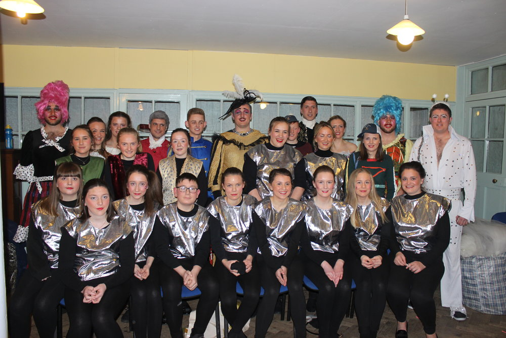 Presteigne YFC before their performance.