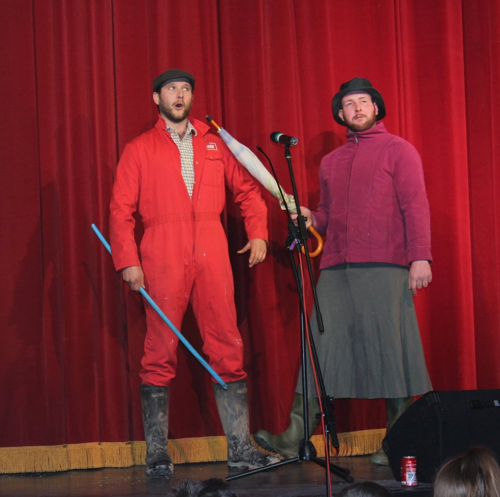 Will Rogers & Owen Davies, Presteigne YFC entertained the audience with their sketch and song.