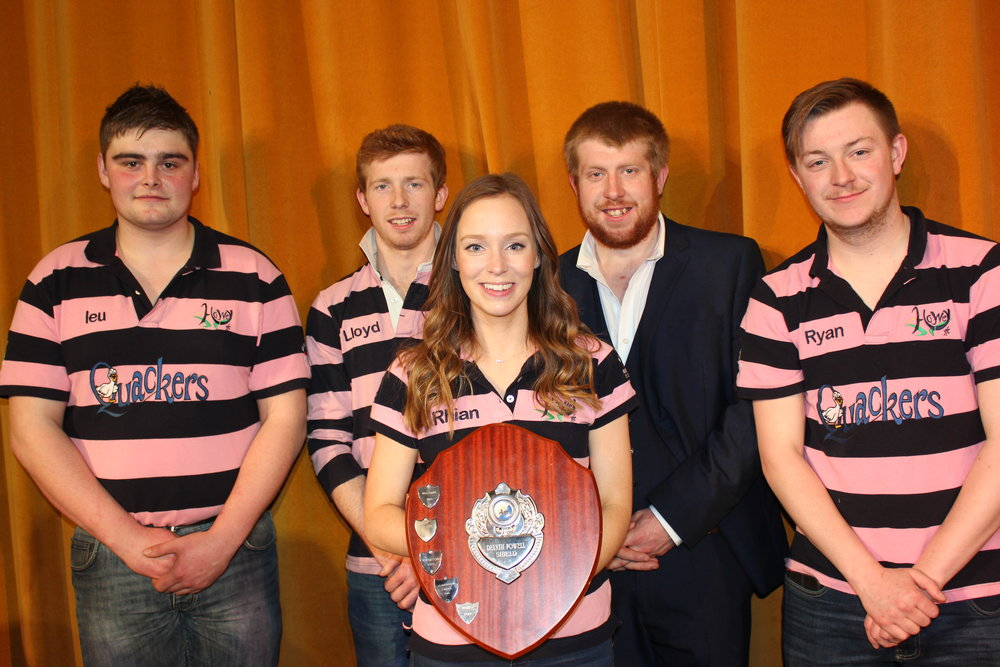 Howey YFC with the 'Delyth Powell Shield' for best Time to Shine.