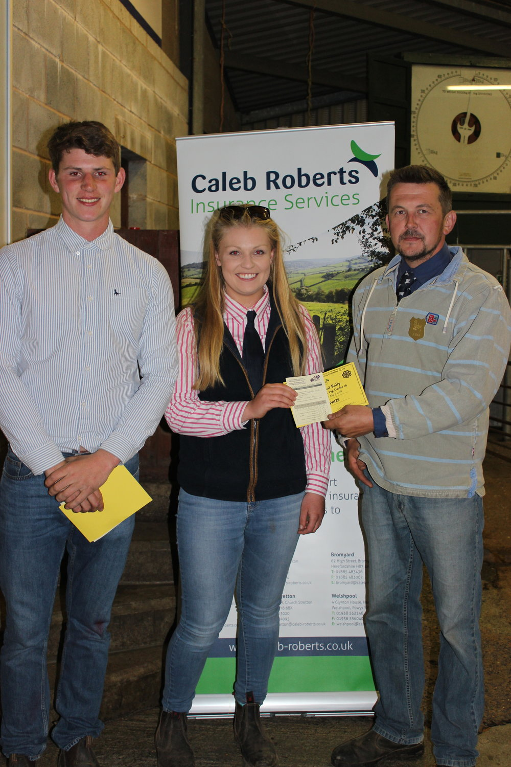 Will Lewis, Dolau YFC & Sioned Price, Knighton YFC