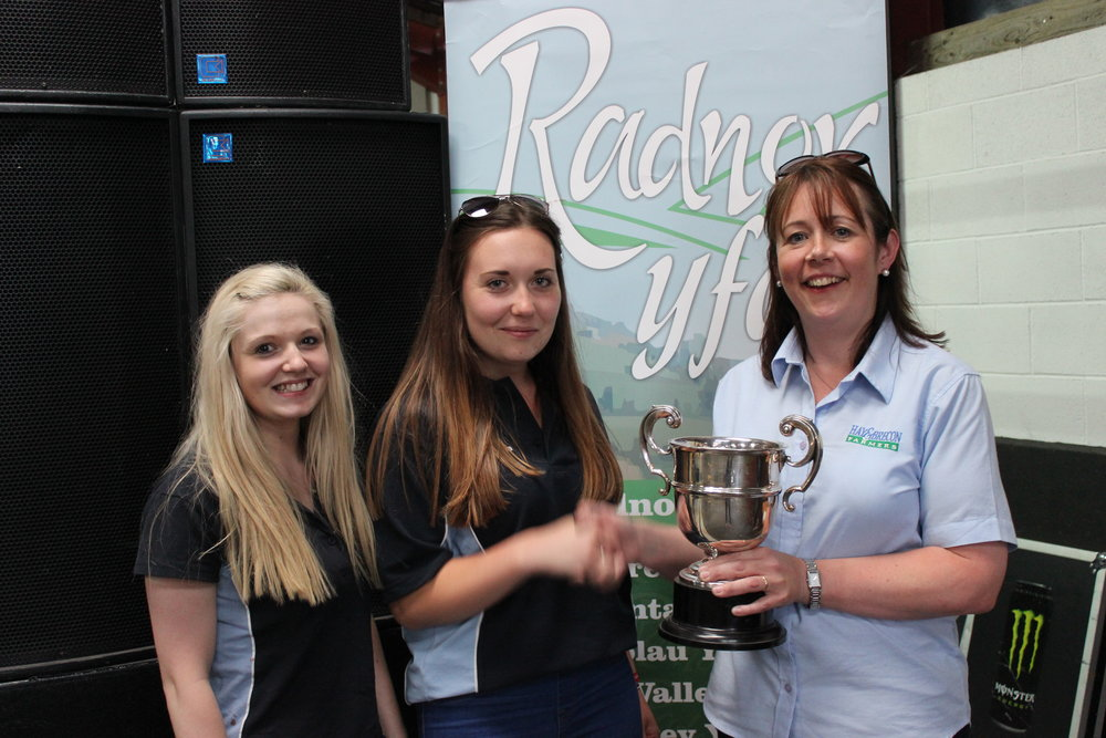 Lisa Mills & Gemma Evans, Rhayader YFC - Albert Pritchard Trophy / Design & Create A Kite & Recylced Band Competitions