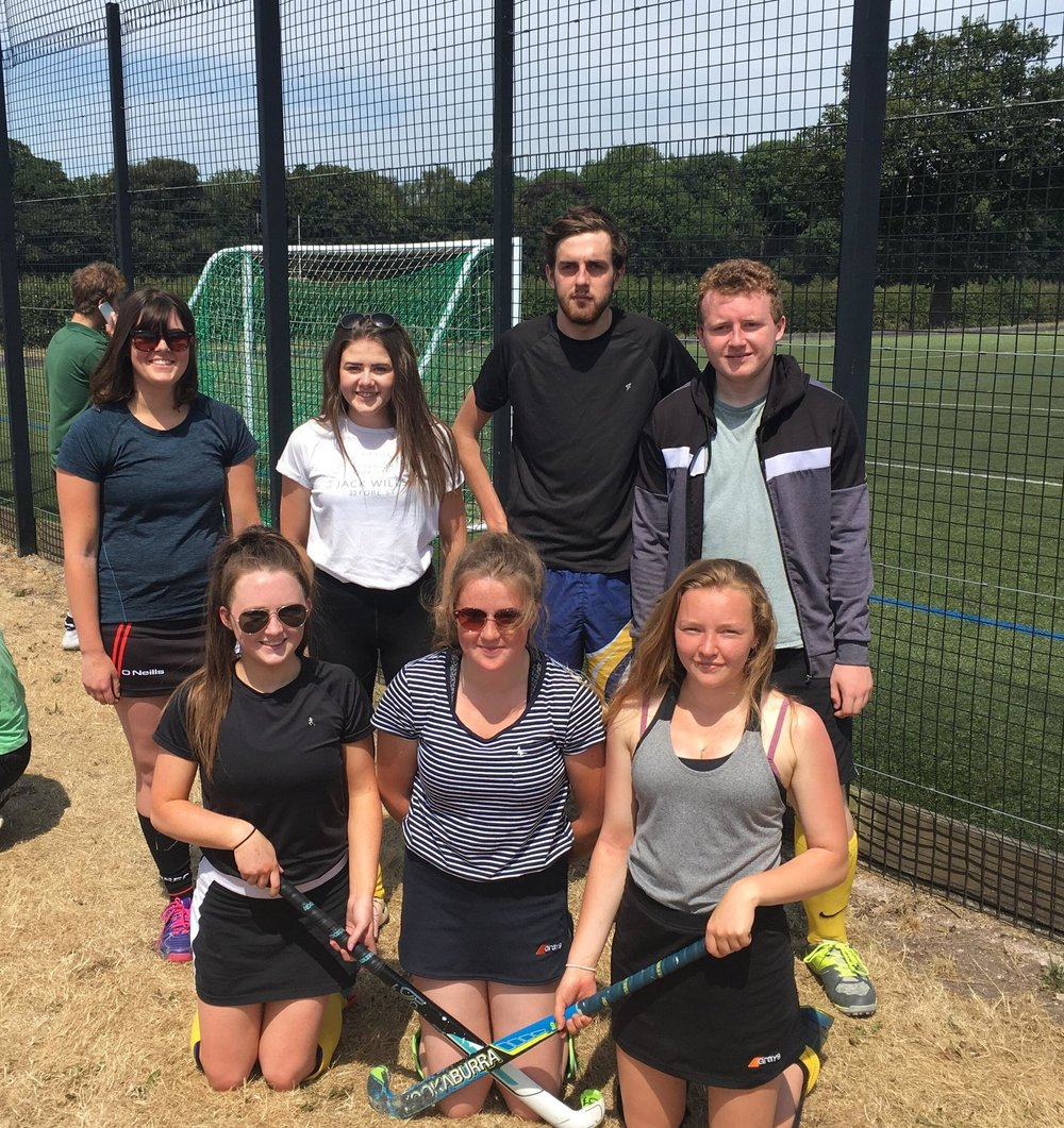 Esme Doherty & Lauren Bradford, Penybont YFC, Charles & Teddy Mitchell, Edw Valley YFC, Ffion Pugh & Rhian Farmer, Aberedw YFC & Alex Griffiths, Dolau YFC in the Mixed Hockey.