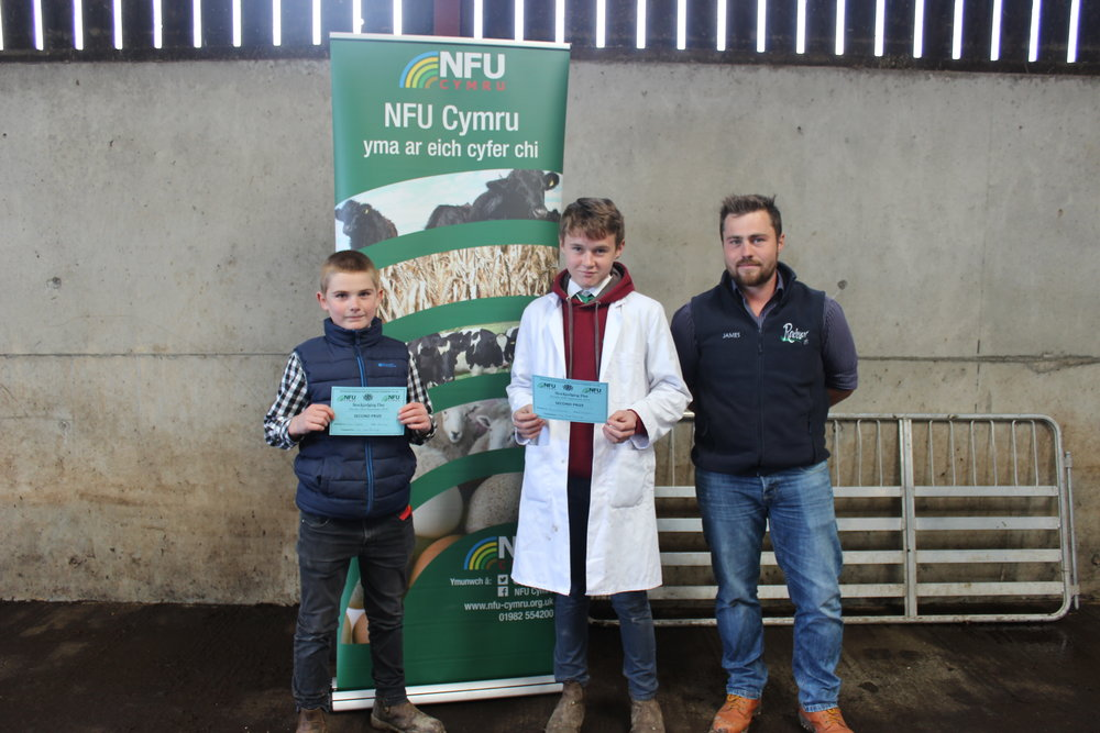Evan Dyke, Howey YFC & Jamie Farmer, Rhosgoch YFC - Placings Only