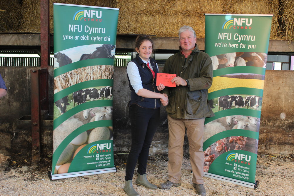 Carys Powell, Penybont YFC - Junior Pig Judging