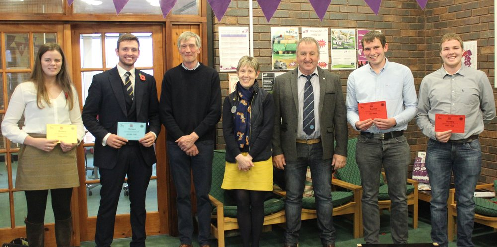 Members who represented their Clubs in the Bursary competition with Judges David Rogers, Rhian Duggan & Peter Hope.